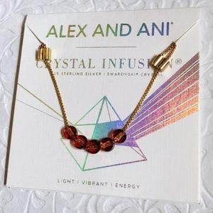Alex and Ani Crystal Infusion Bracelet. Lava, Gold
